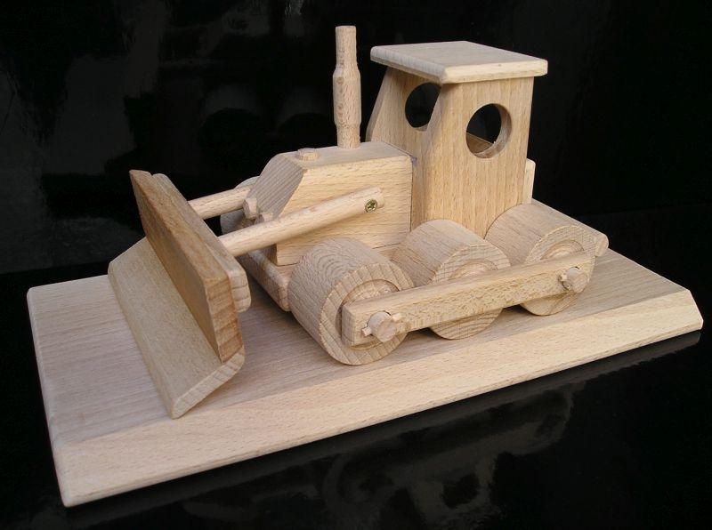 Buldozér na podstave |drevené hračka a darčeky