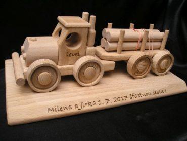 Lesné vozidlo, nákladné auto, kamióny drevené hračky