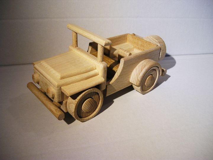 Jeep terénne autíčko z dreva | drevený vojenský darček-terenni-jeep