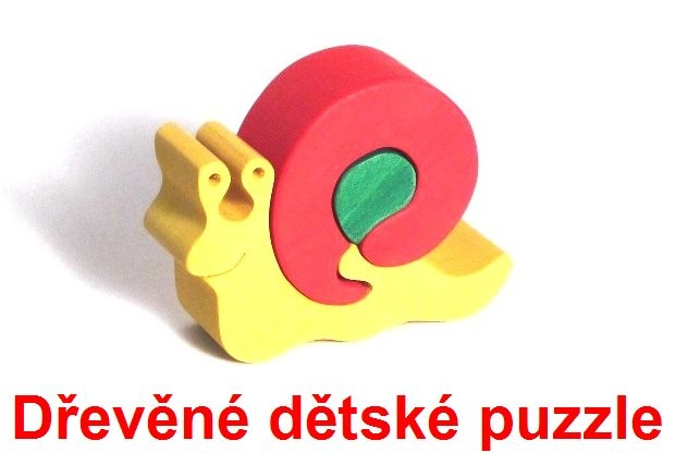 Slimák drevené detské skladacie puzzle | drevené hračky