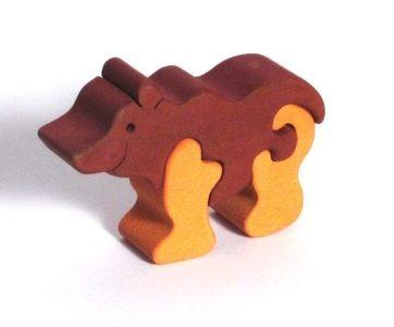 Medveď medvedík drevené detské skladacie puzzle | drevené hračky