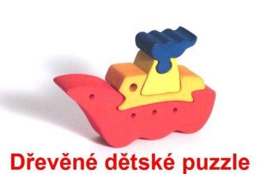 Loď drevené detské skladacie puzzle | drevené hračky