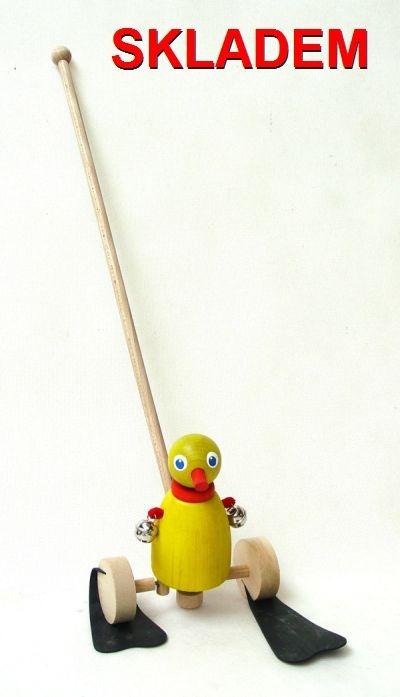 Hračky na tyči | drevená kačička pre deti začínajúcich chodiť