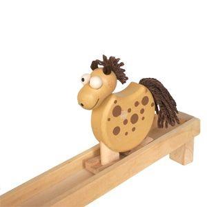 Drevené chodiace zvieratko koník, drevená hračka