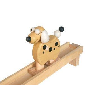 Drevené chodiace zvieratko psík, drevená hračka
