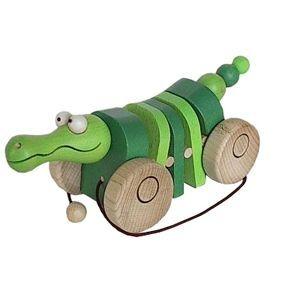 Ťahacie drevená česká hračka krokodyl