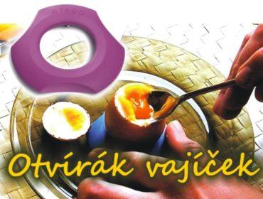 Lúpanie vajíčka vareného namäkko a kalíšok, stojan na vajcia