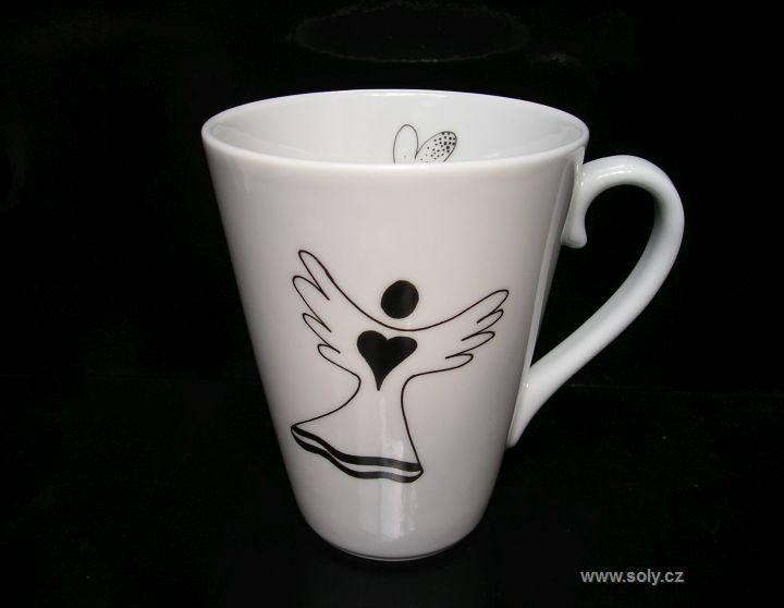 Hrnček, hrnčeky z porcelánu na čaj, kávu s motívom anjela 0,2l