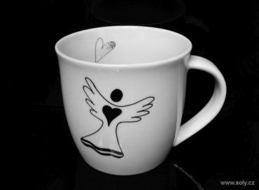 Hrnček z porcelánu motív anjel 0,35 l