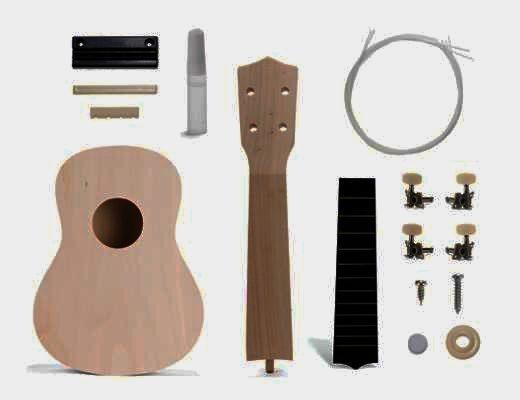 Stavebnica gitara Ukulele | hracie strunové nástroje pre deti