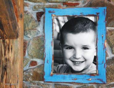 30x40 cm Drevené rámy na obrazy, fotky, plátna, fotorámik, modrý