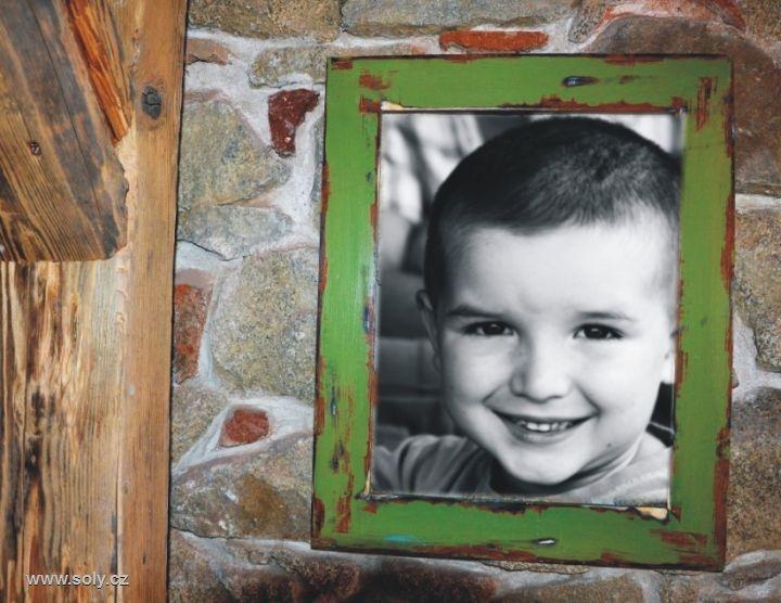 30×40 cm Veľký drevený retro rám na obraz, rámček, fotorám