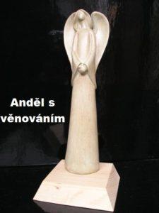 Zelený anjel sošky, figúrky na podstave | anjeli darčeky