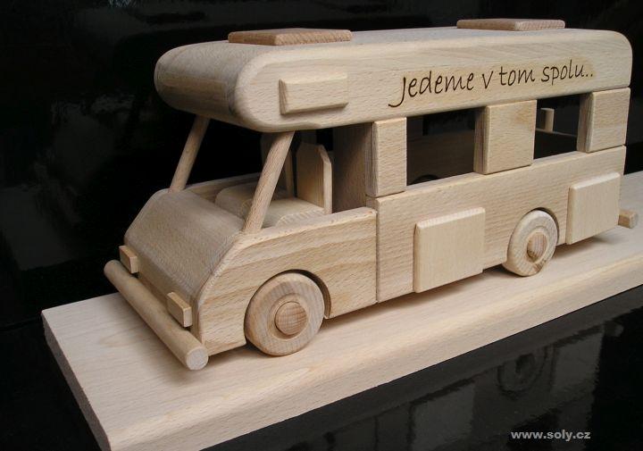 Karavan na podstave | obytný voz | drevený darček pre cestovateľov, karavanisty