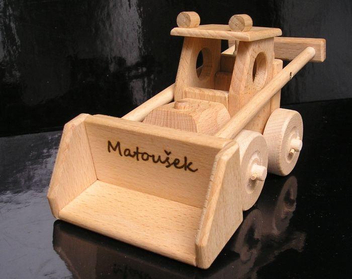 Hračka buldozér | drevené darčeky a hračky