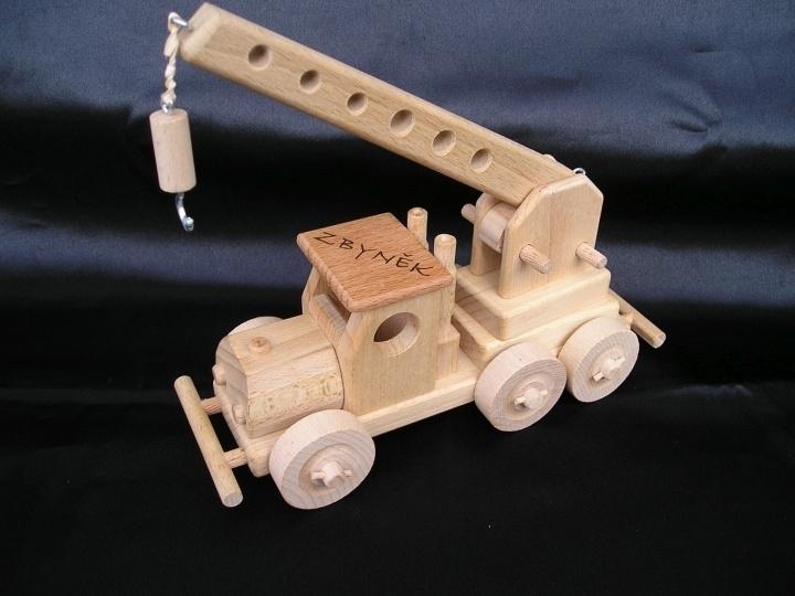 Žeriav | autožeriav | hračka | drevené darčeky a hračky