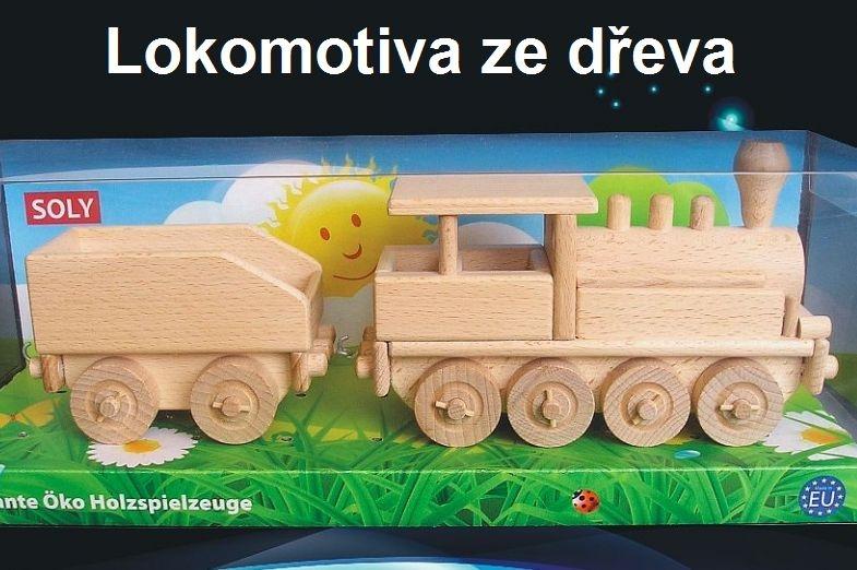 Drevená parná lokomotíva | hračky pre chlapcov | drevená hračka