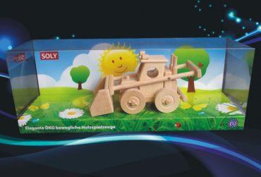 Buldozér hračka   drevené darčeky a hračky