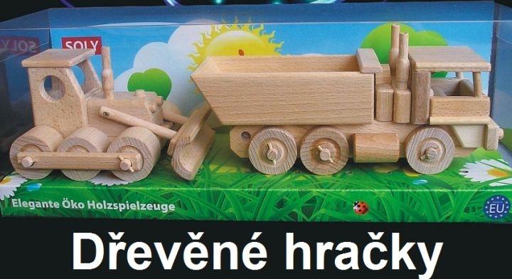 Autá pre chlapcov, nákladiak a buldozér | drevené darčeky a hračky