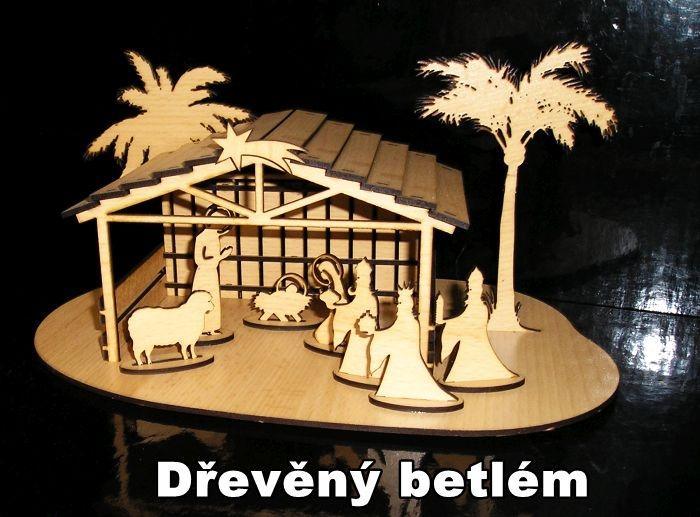 Drevený betlehem vianočný na vianoce