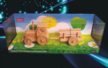Detský traktor pre chlapcov na hranie | drevená hračka | drevený darček