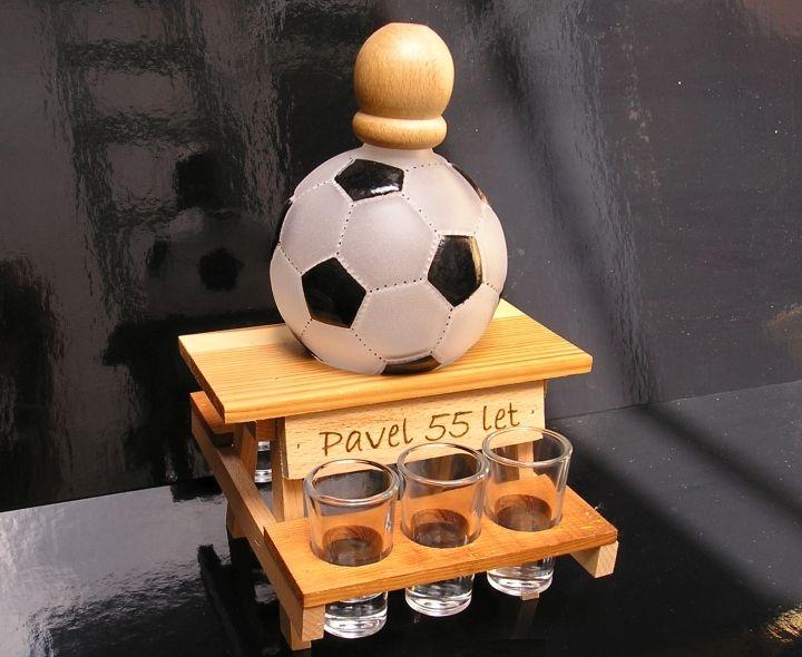 Darčekové fľaše a sklo na alkohol pre futbalistu | FUTBAL