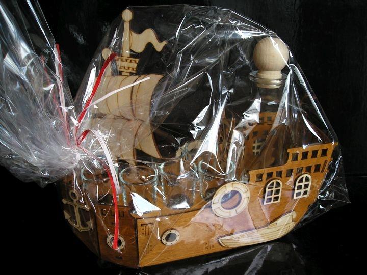 Darčekové sklo, fľaša na alkohol plachetnica, loď pre námorníka, kapitána lode