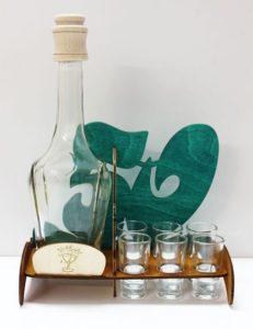 Darčeková fľaša na alkohol s textom 50 narodeniny