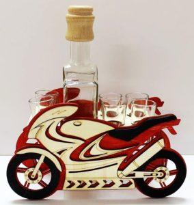 Darček motorka | alkohol fľaša | športová motorka
