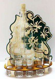 Darčekové sklo | fľaša na alkohol husle, VIOLA