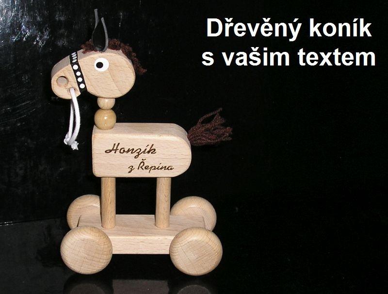 Drevený kôň, koník, koníček, hračka pre deti | drevené darčeky a hračky