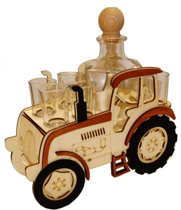 Traktor | Darčeková fľaša pre traktoristu | SKLO na alkohol