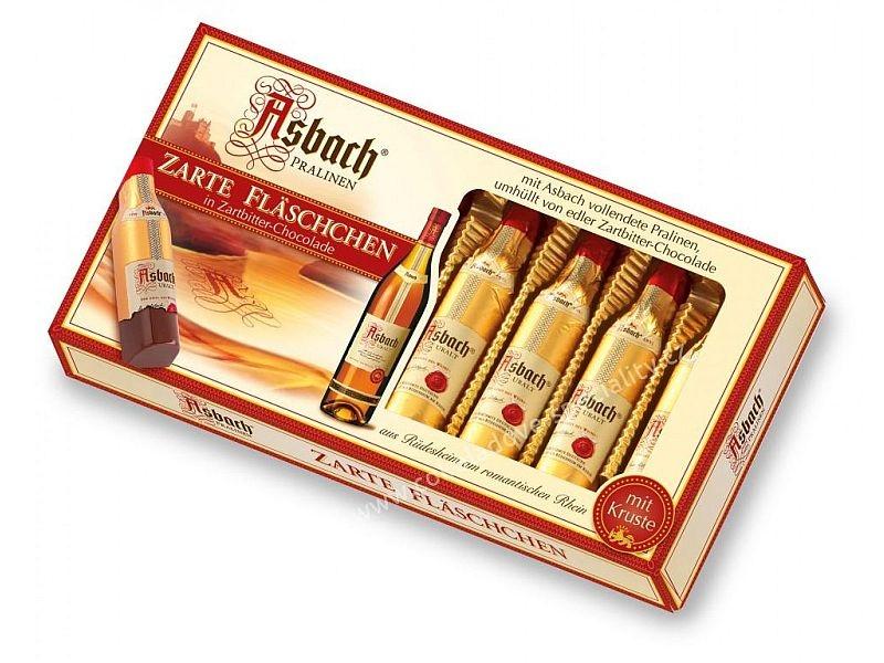 Nemecké pralinky Asbach fľaštičky s originál BRANDY | sladké darčeky pre ženyh