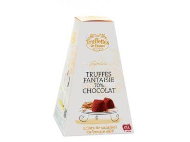 Truffettes de France čoko cukríky 70% s karamelky a soleným maslom | čokoláda pre ženy