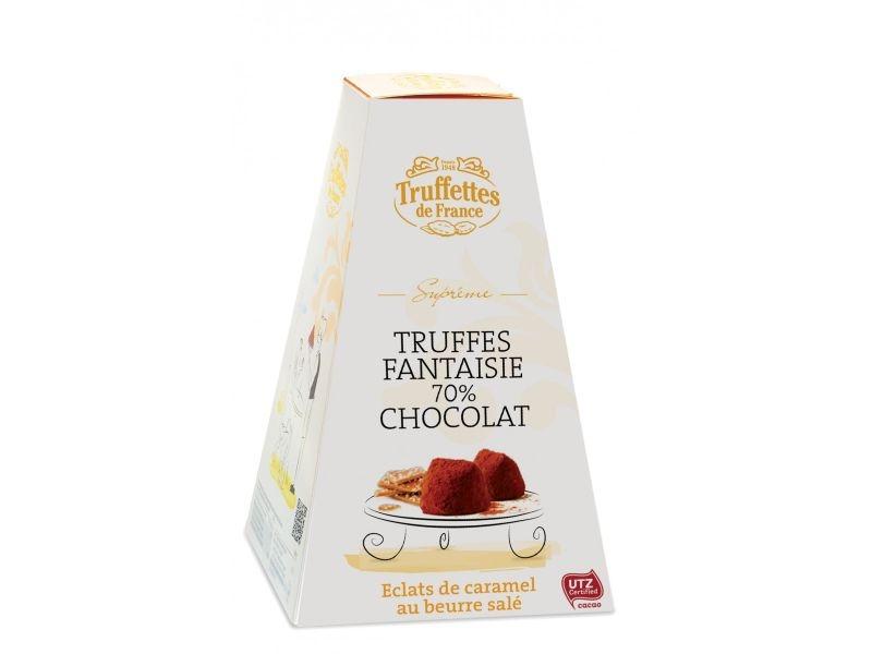 Truffes čoko cukríky 70% s karamelky a soleným maslom | sladké darčeky pre ženy