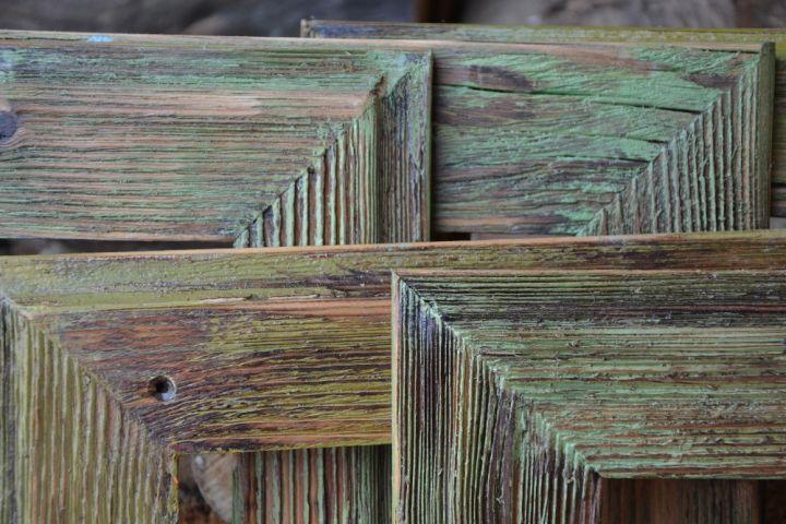 Retro drevené rámy na obrazy a fotky, fotorámy, rámčeky, fotorámčeky, natur, bielej, modrej, zelenej