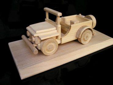Jeep US terénne vojenske auto | drevená hračka