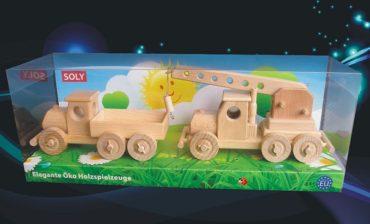 Drevené hračky, náklaďáček pre deti + autožeriav