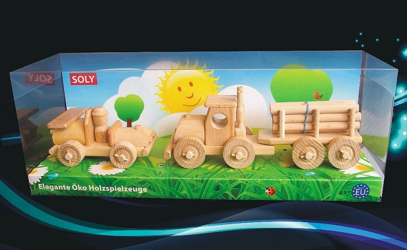 Drevené autíčko a kamión s drevom | drevená hračka