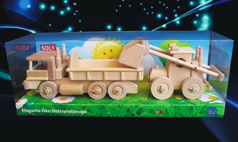 Poľnohospodársky nakladač a nákladiak | drevené hračky