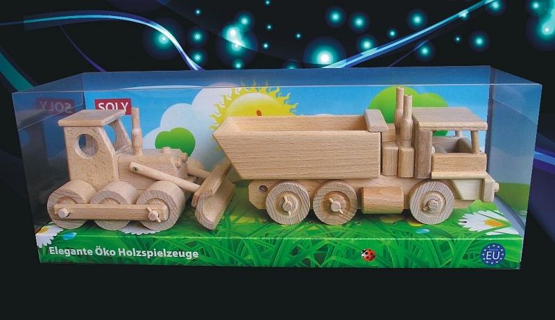 Buldozér a nákladné auto, vozidlo Tatra   drevené hračky   darčeky pre vodičov