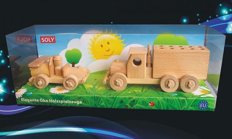 Sťahovacie nákladné auto a autino | drevené hračky
