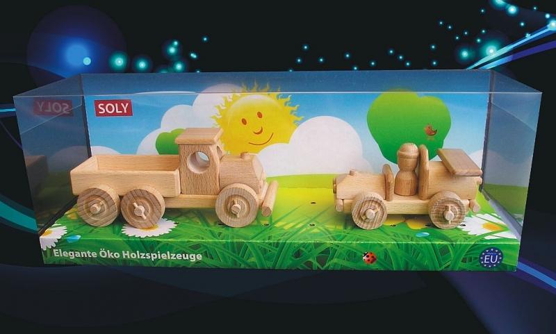 Drevené hračky. Detské autíčko + náklaďáček