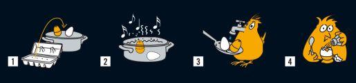 Kuchynská minútka pre varenie vajec | hudobné varič vajec BeepEgg Classic