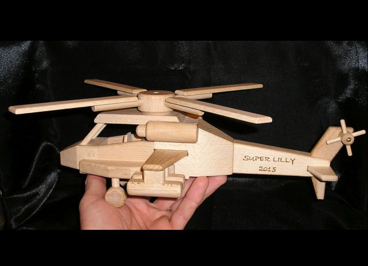 Helikoptéra vrtulník hračka | drevené darčeky a hračky
