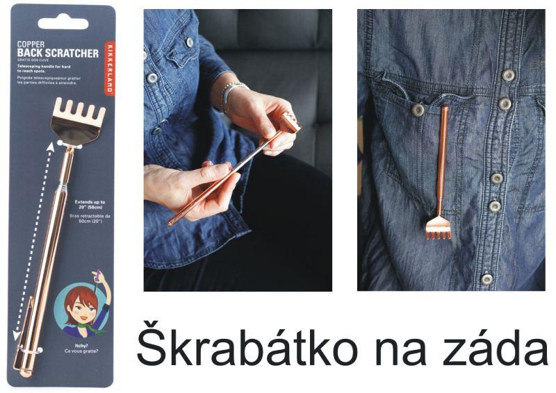 Škrabátko drbátko na chrbát – teleskopické, darček pre otca, otecka