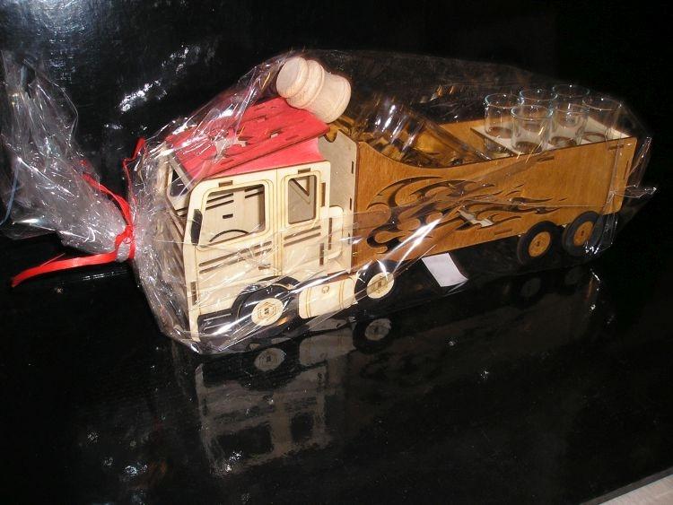 Geschenk für LKW-Fahrer Geburtstags Flasche