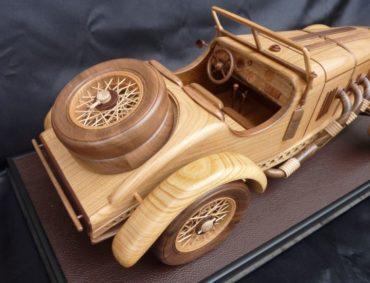 Mercedes SSK drevené modely vozidiel