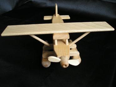 Hydroplán - drevené lietadlo | drevené hračky | darčeky pre pilotov