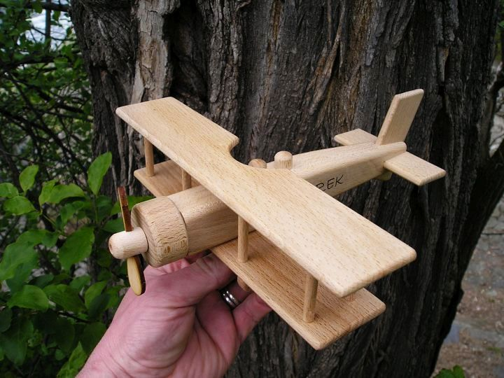 Drevené lietadlá dvojplošník | drevené hračky
